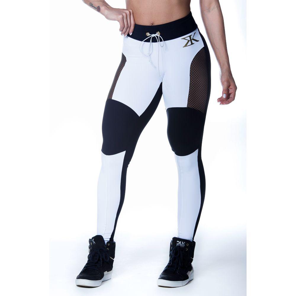 2d76fbc13 calca-legging-fitness-glam-branca-com-preto-dourado- ...